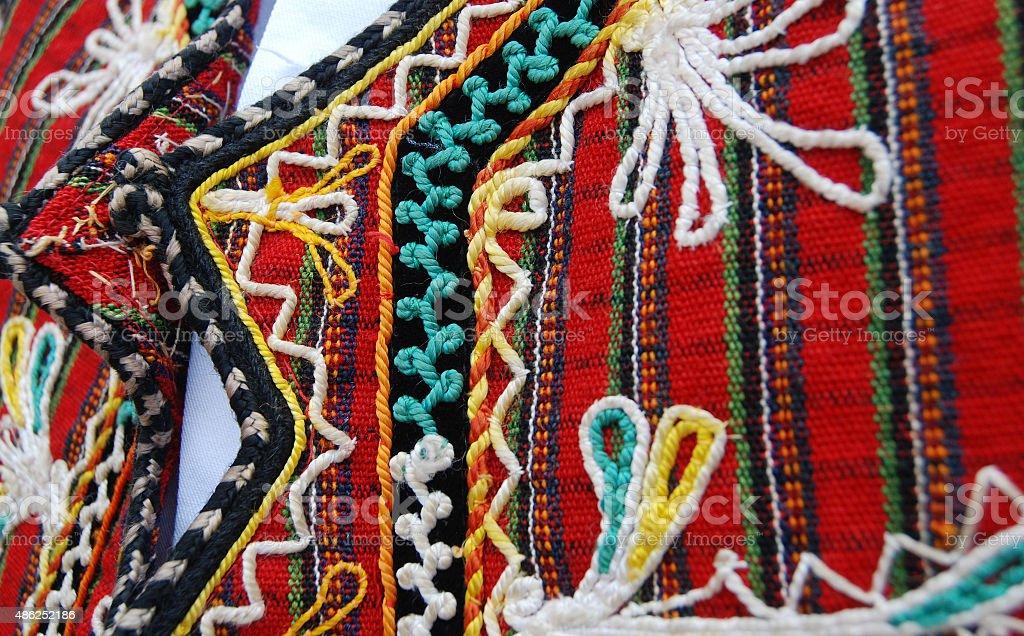 Traditional macedonan clothes stock photo