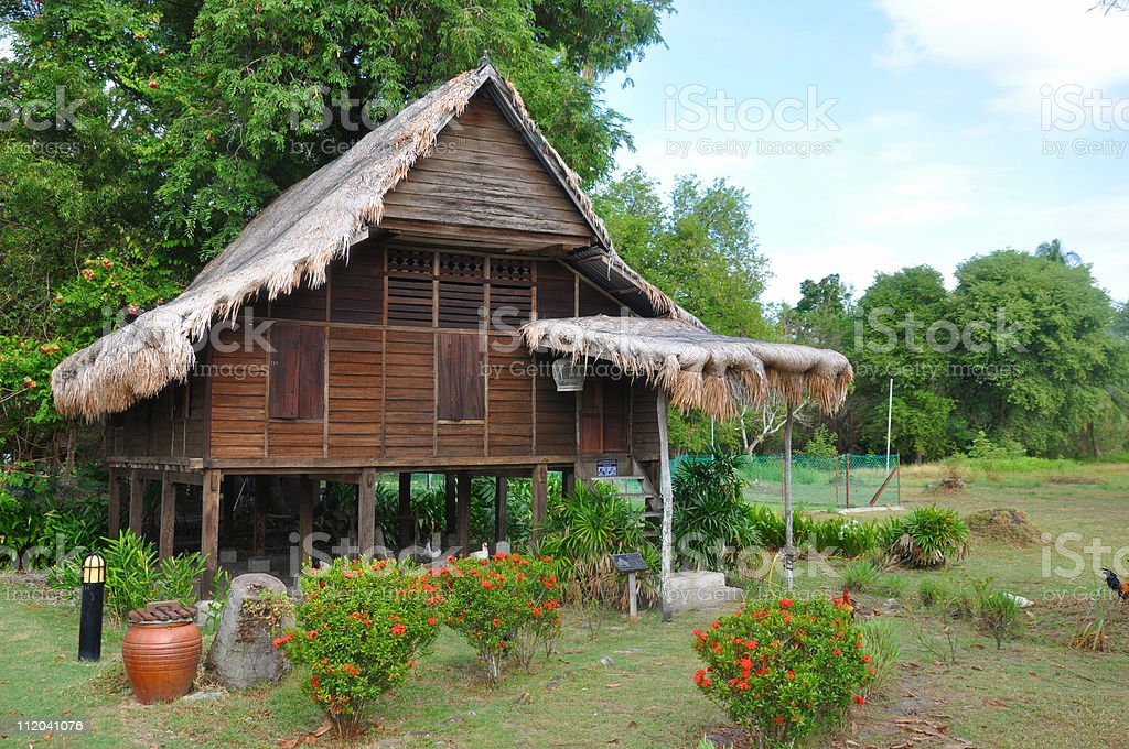 Traditional Malay House stock photo