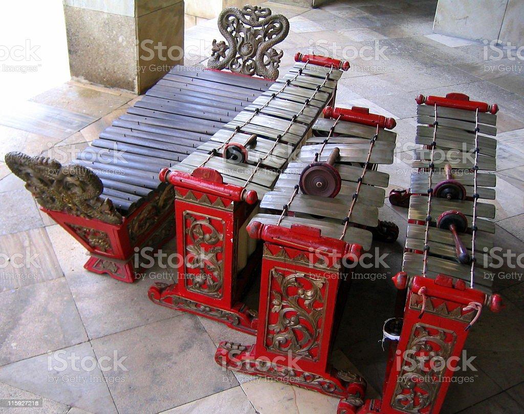 Traditional Malay Musical Instrument Saron stock photo
