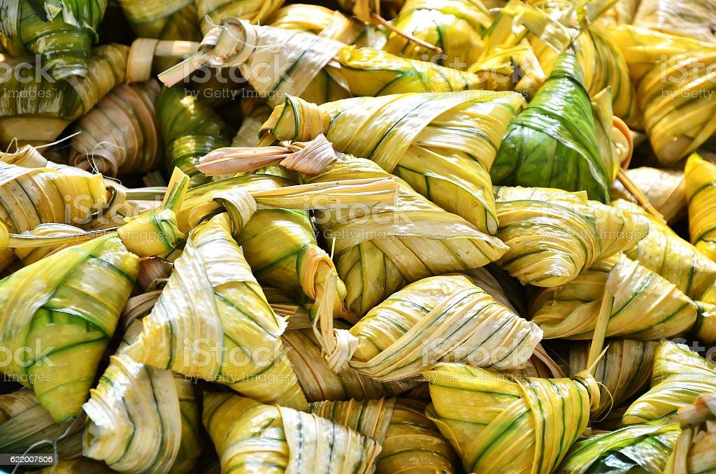 Traditional malaysian food stock photo