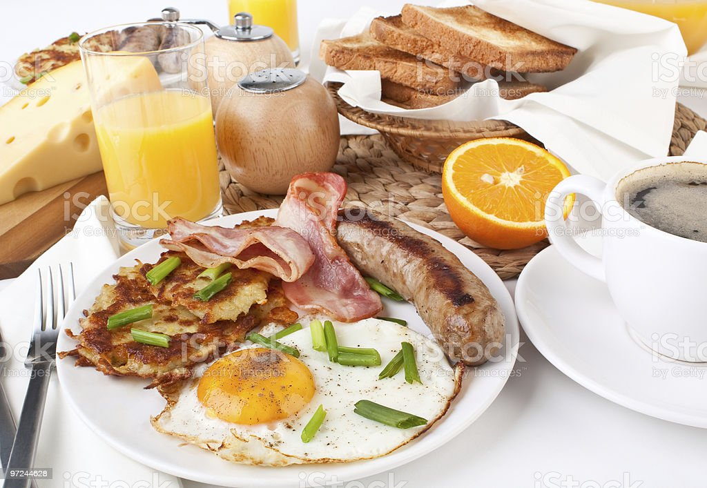 Traditional Manhattan brunch royalty-free stock photo
