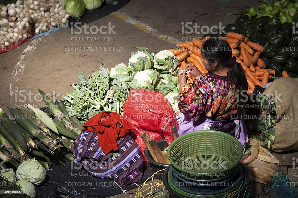 Traditional market in Guatemala, Chichi royalty-free stock photo