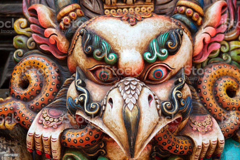 Traditional Mask of Garuda royalty-free stock photo