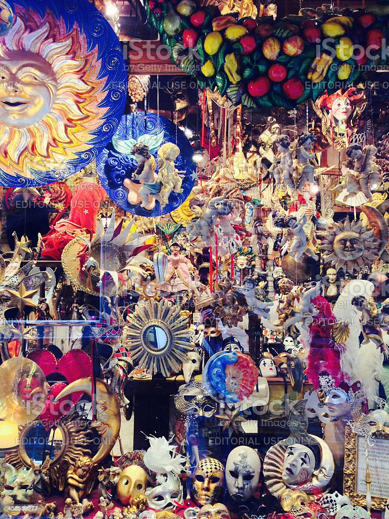 Traditional masks for the Carnival of Venice royalty-free stock photo