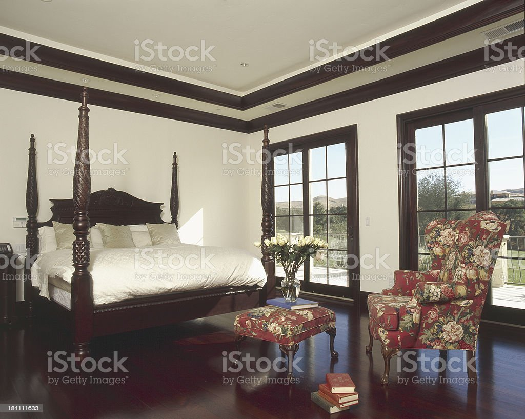 Traditional Master Bedroom royalty-free stock photo