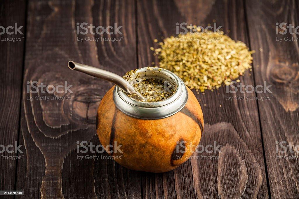Traditional mate tea stock photo