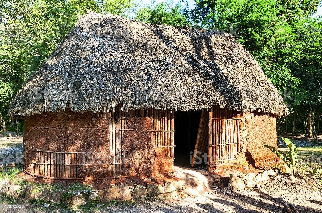 traditional mayan home royalty-free stock photo