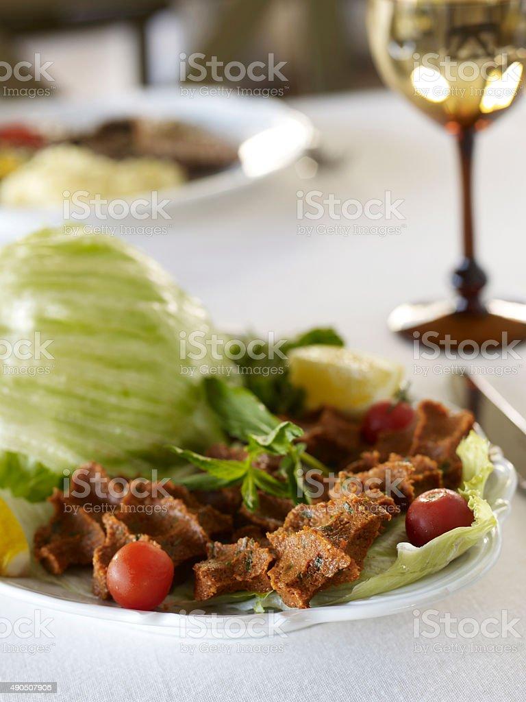 traditional meatball stock photo