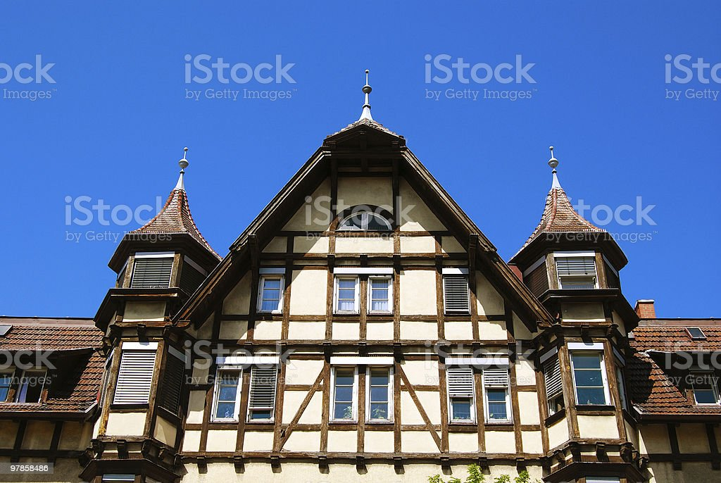 Traditional medieval german house royalty-free stock photo