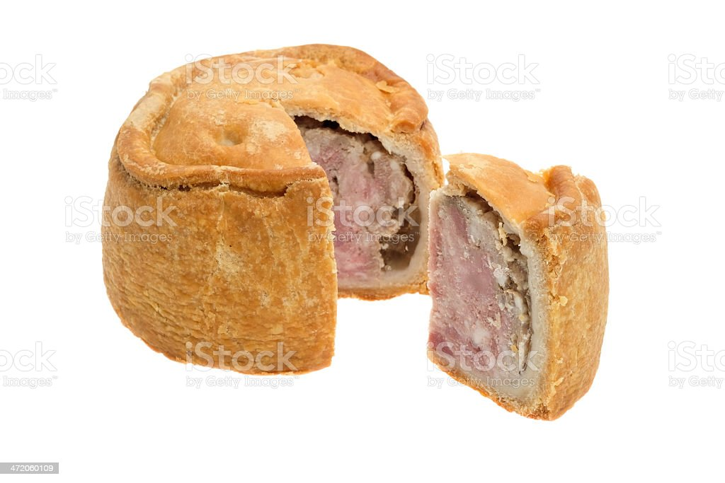 Traditional Melton Mowbray pork pie stock photo