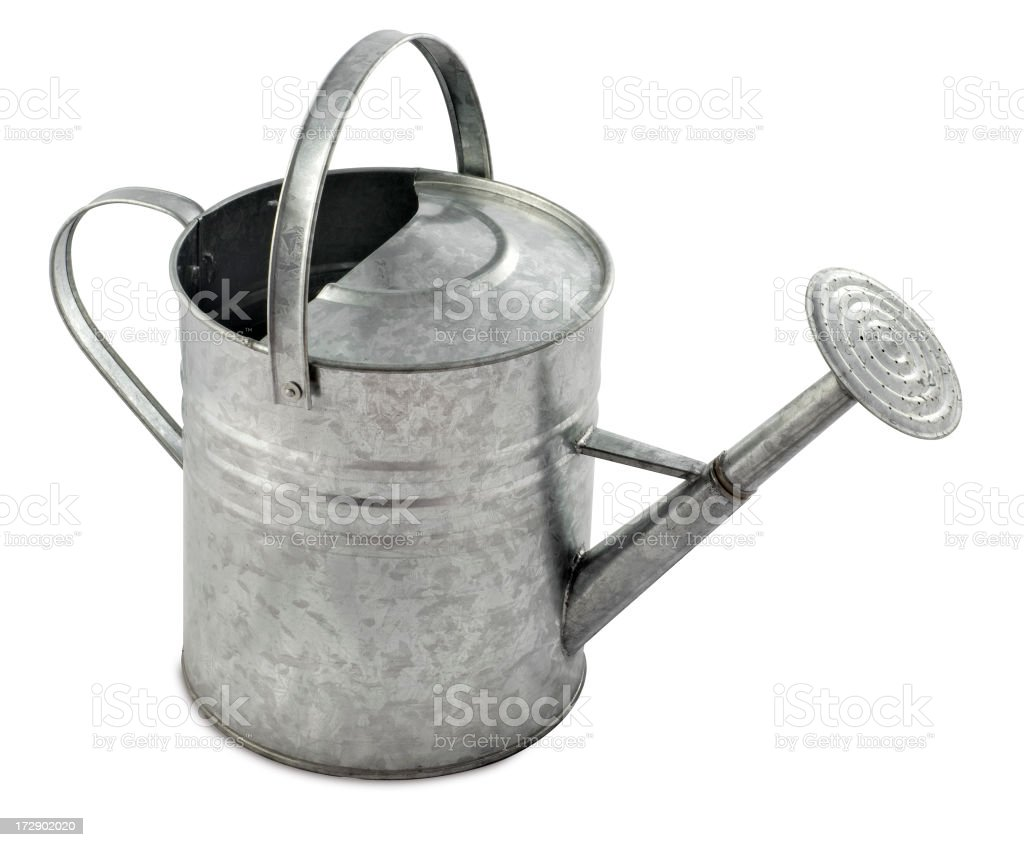 Traditional Metal Watering Can royalty-free stock photo