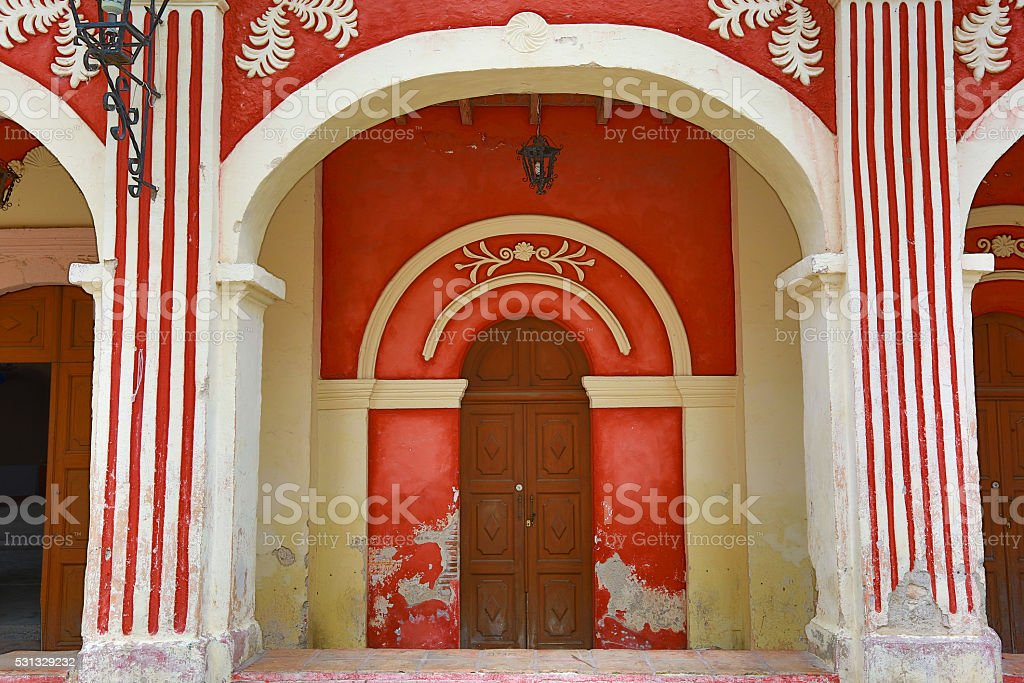 traditional Mexican architecture stock photo