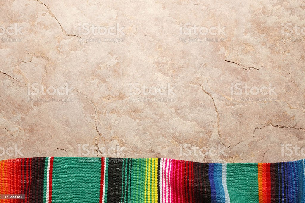 Traditional Mexican Blanket stock photo