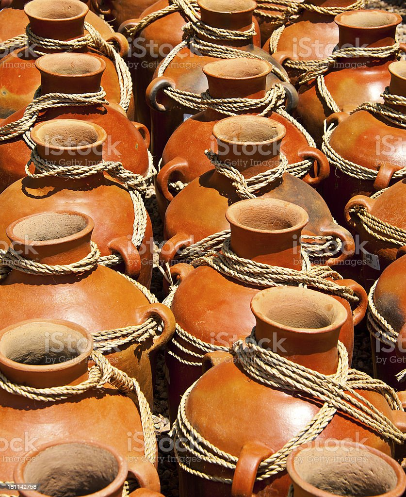 Traditional Mexican Ceramic Pots royalty-free stock photo