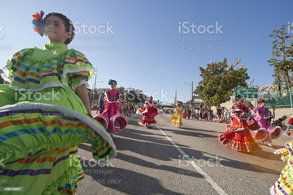 Traditional Mexican Dancers stock photo