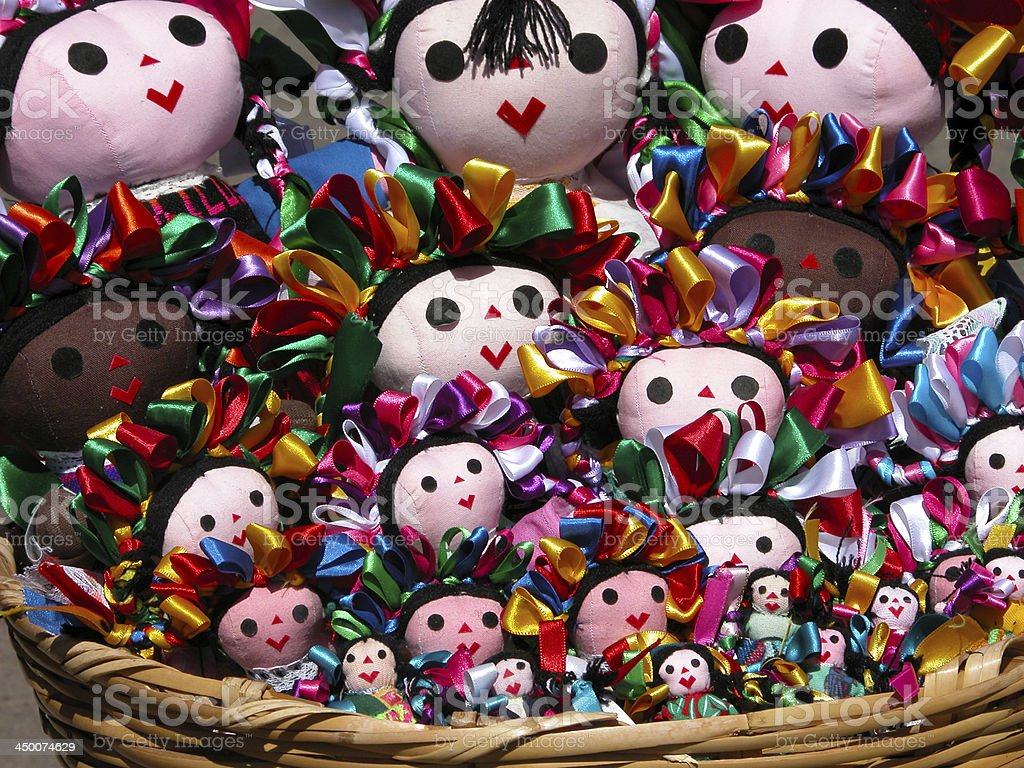 Traditional mexican dolls royalty-free stock photo