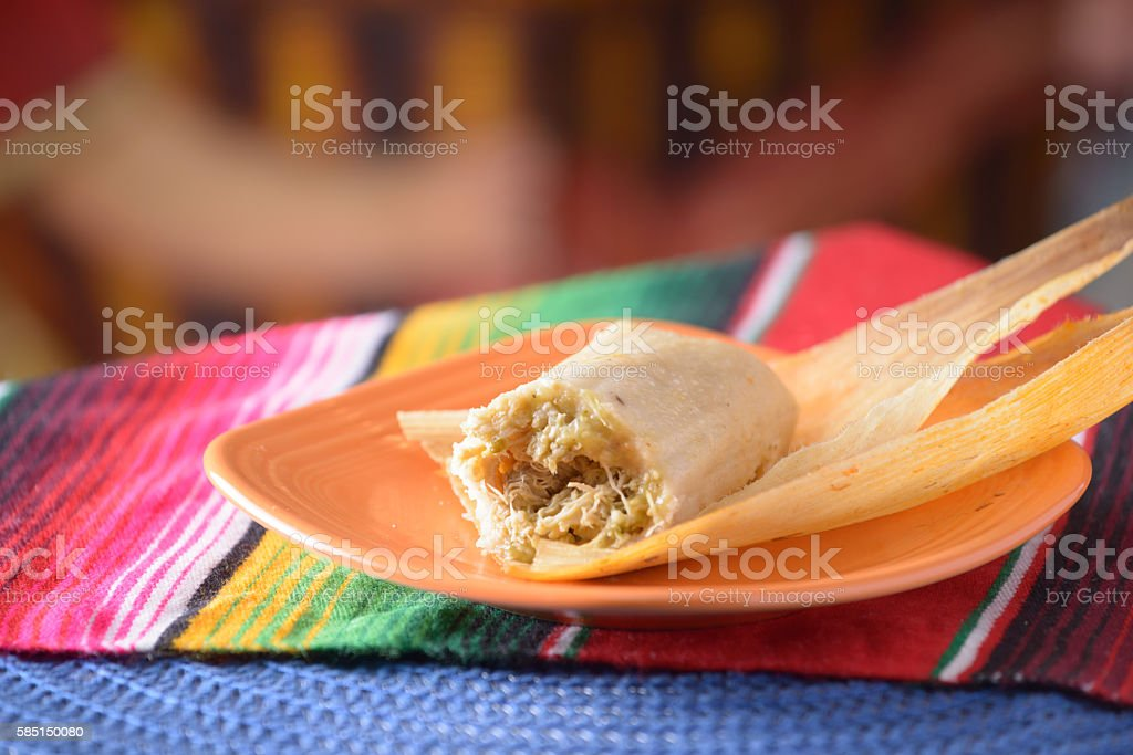 Traditional Mexican food tamales stock photo