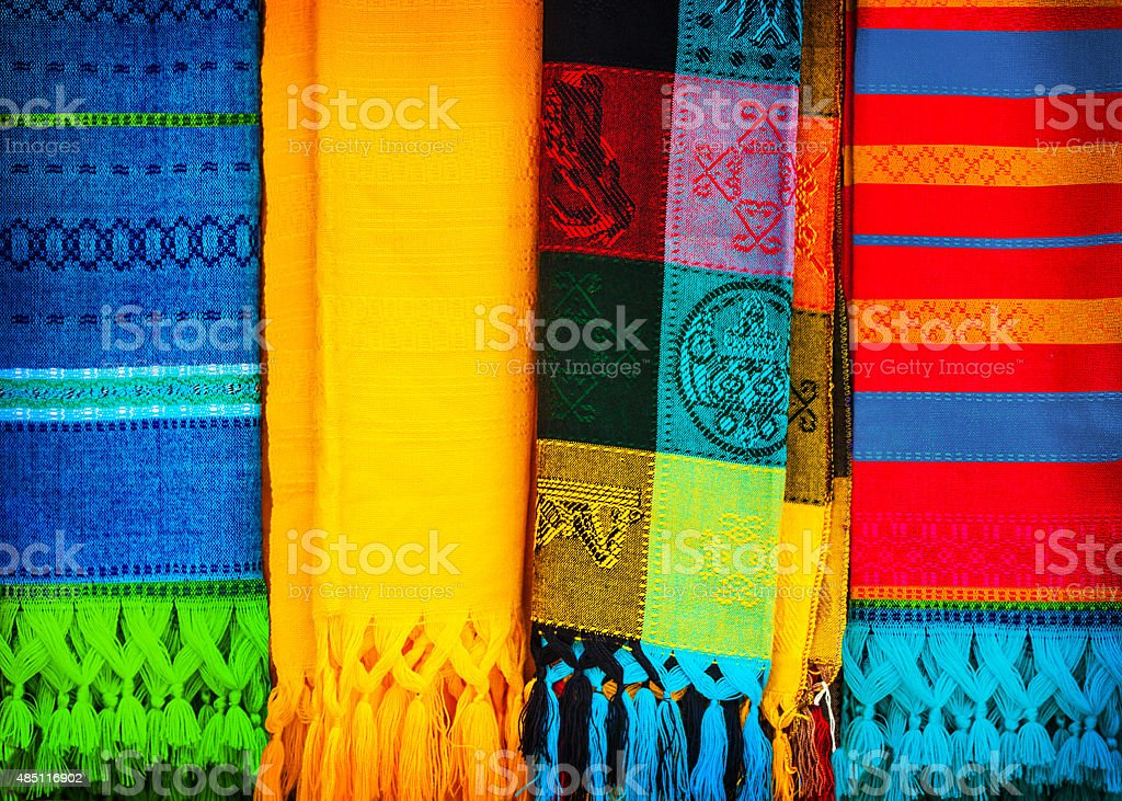 Traditional mexican neckerchief stock photo