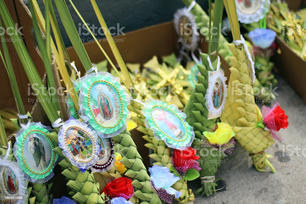 Traditional Mexican Palm Sunday Decorations stock photo
