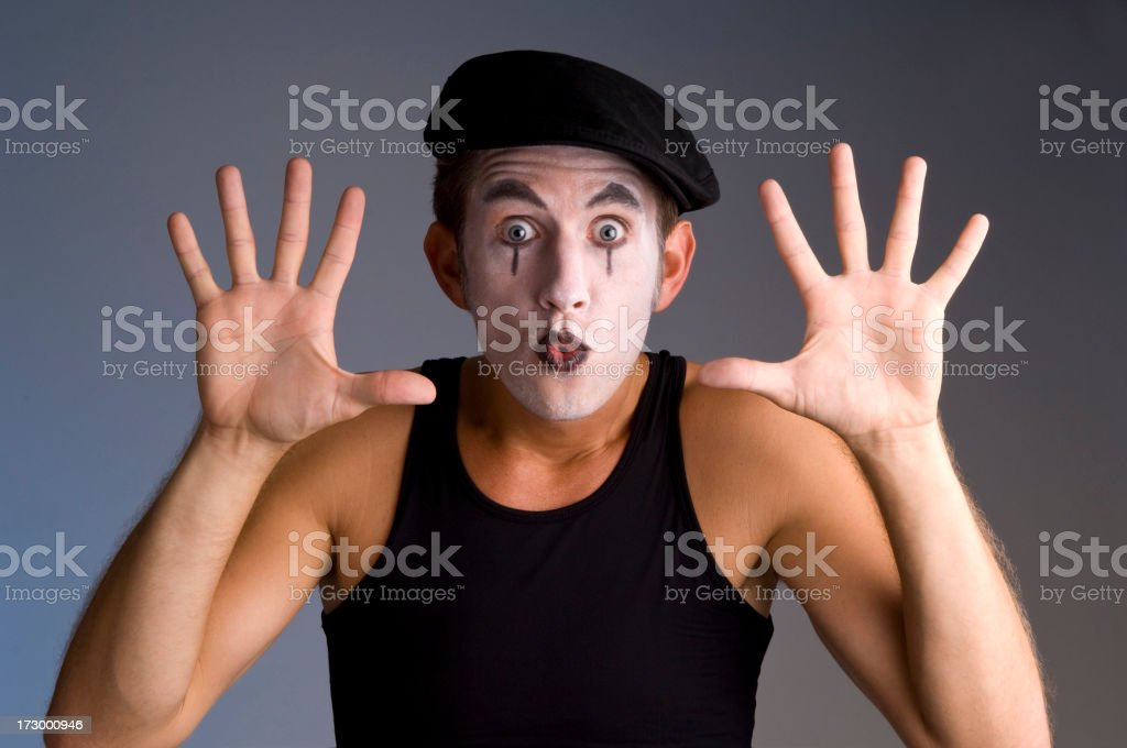 traditional mime stock photo