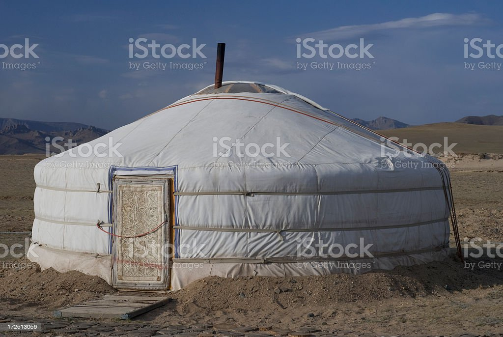 Traditional Mongolian Ger Tent royalty-free stock photo & Traditional Mongolian Ger Tent stock photo 172513056 | iStock