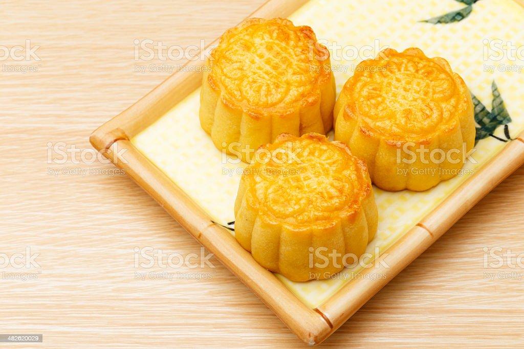 Traditional mooncake stock photo
