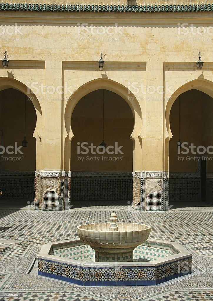 Traditional moroccan palace royalty-free stock photo