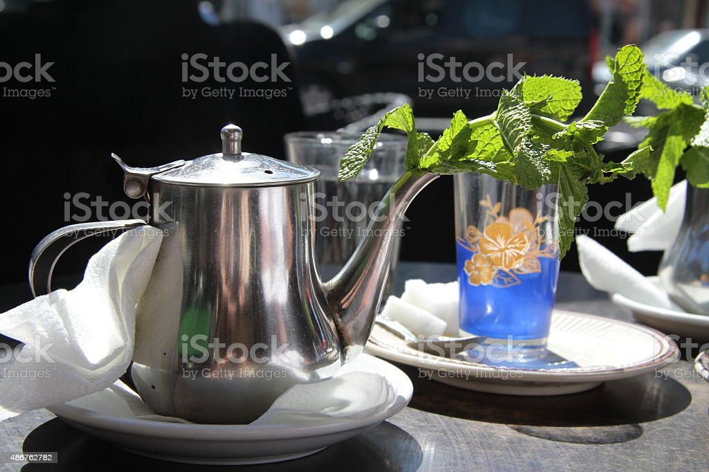 Traditional Moroccan tea stock photo