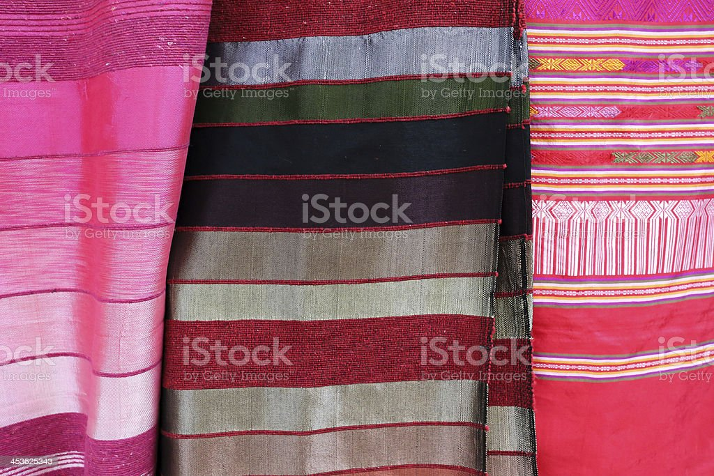 Traditional Moroccan textiles stock photo