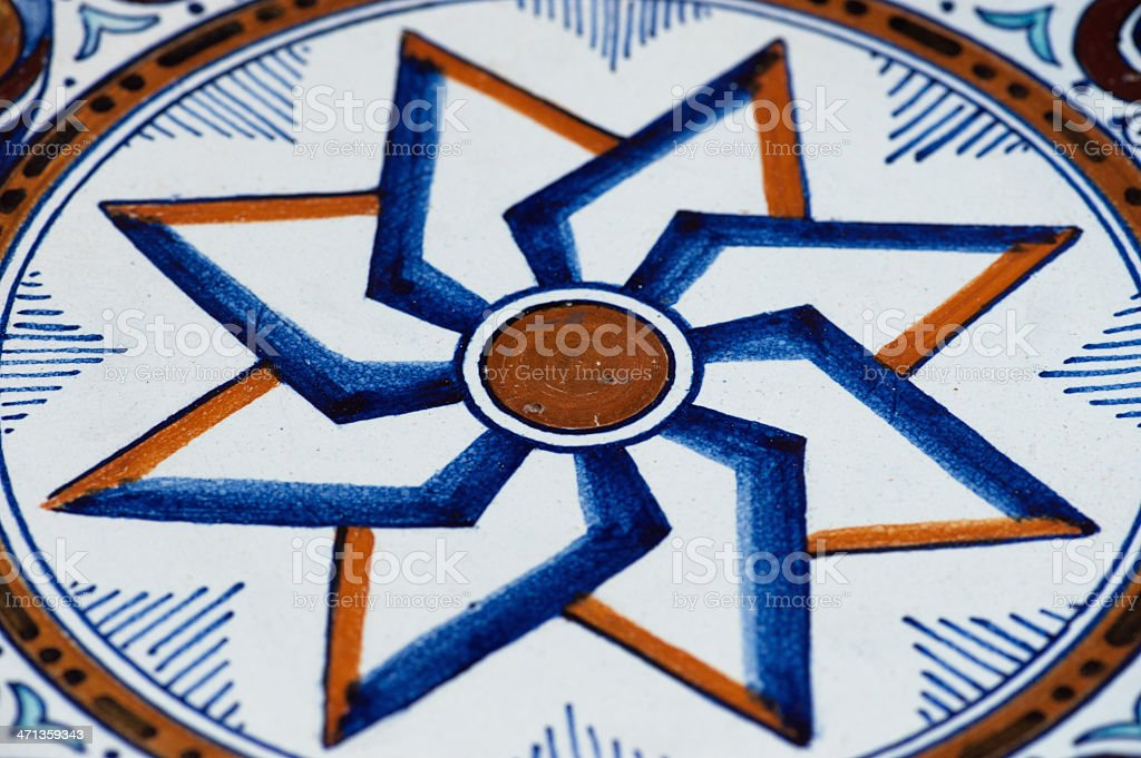 Traditional Moroccan tile pattern royalty-free stock photo