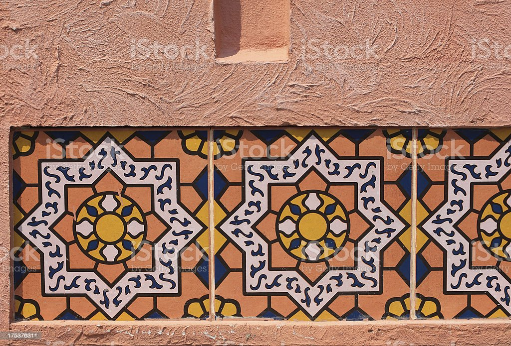 Traditional Moroccan tile pattern, very common in Morocco royalty-free stock photo