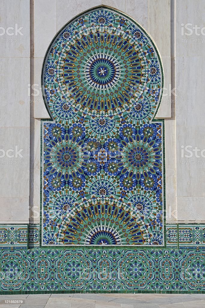 Traditional Moroccan tiled mosque fountain royalty-free stock photo