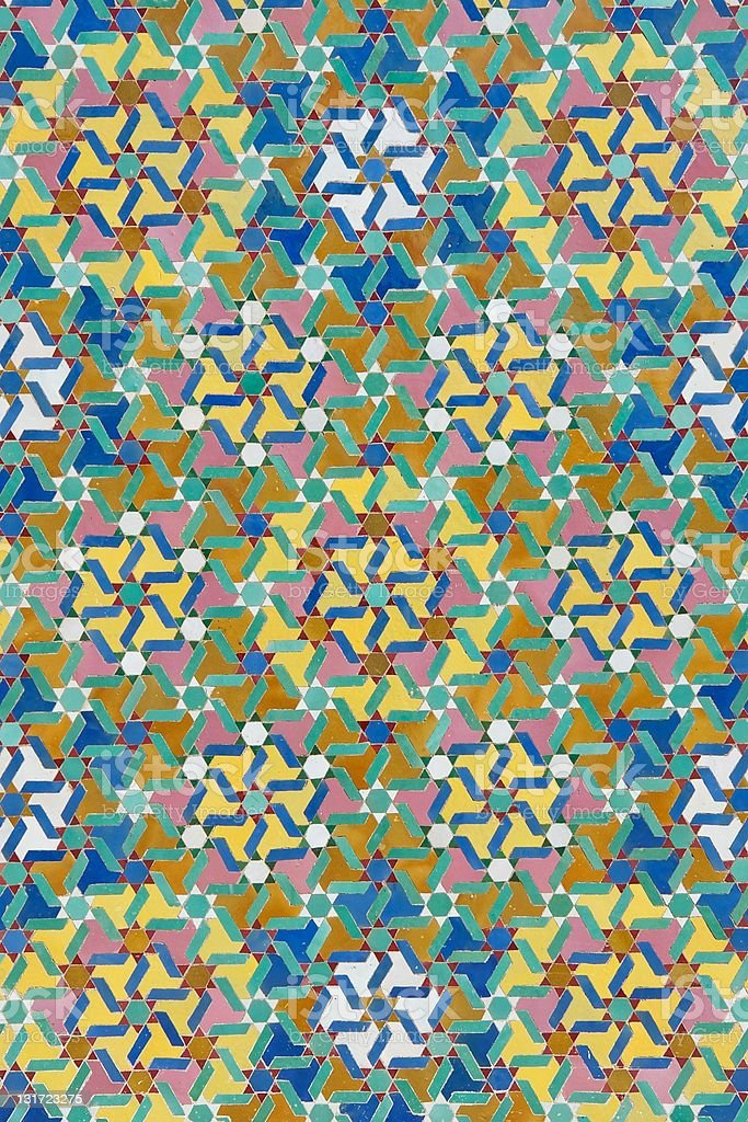 Traditional Moroccan tiles royalty-free stock photo