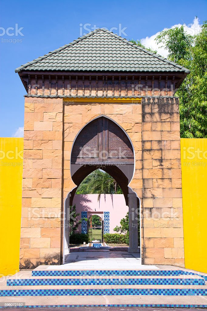 Traditional Morocco gate stock photo