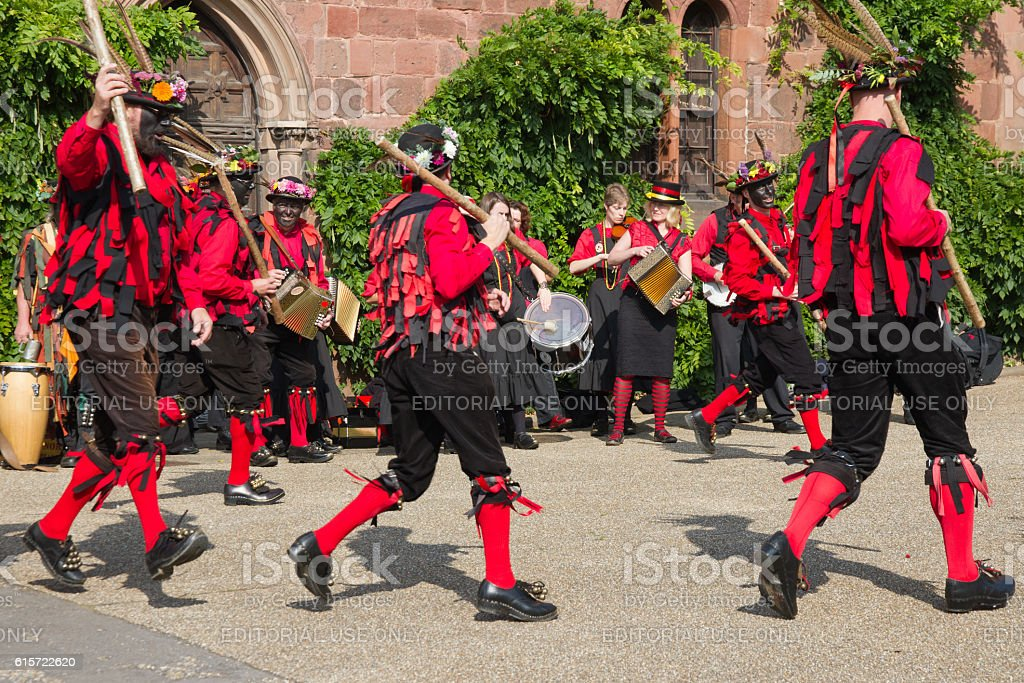 Traditional morris dancers. stock photo