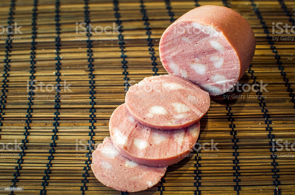 traditional Mortadella (italian food) stock photo