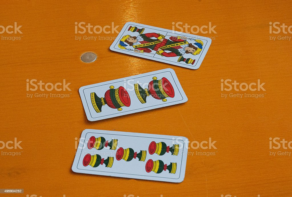 Traditional neapolitan playing cards royalty-free stock photo