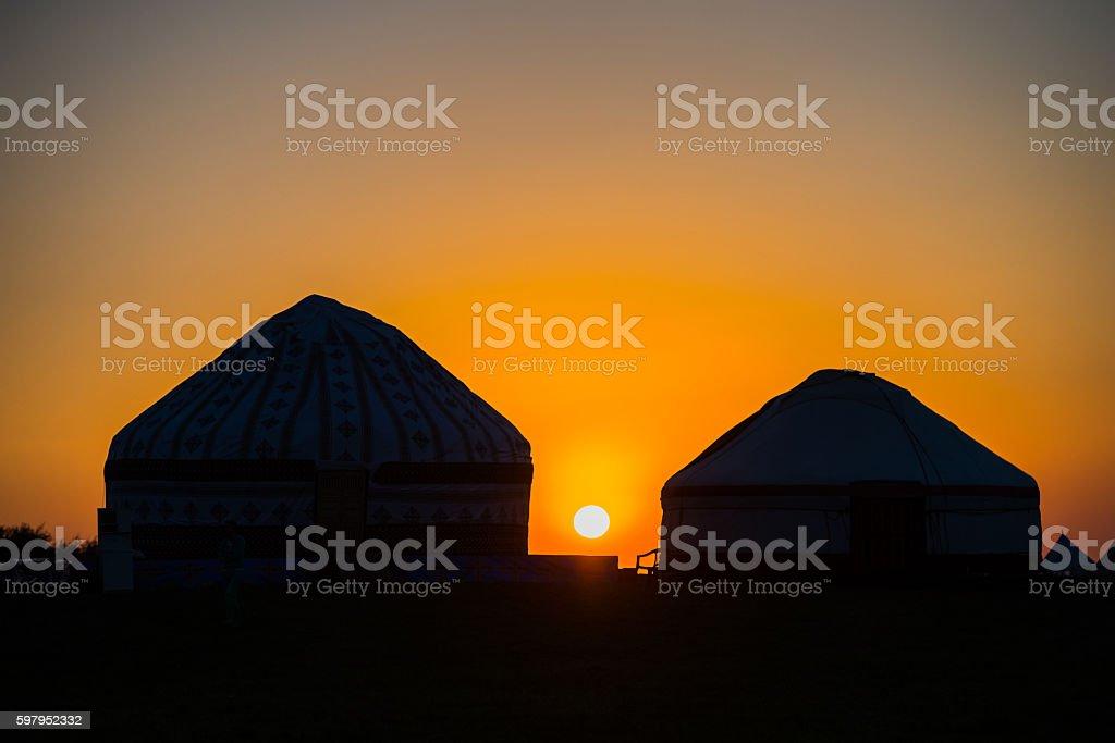 Traditional nomadic house stock photo