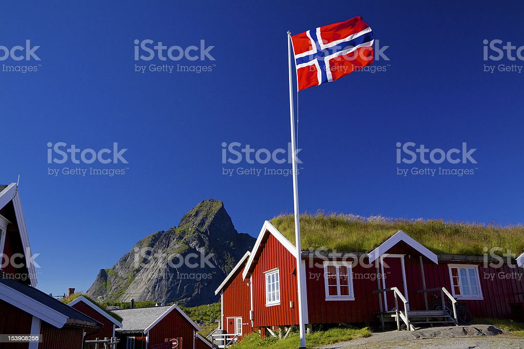Traditional Norway stock photo