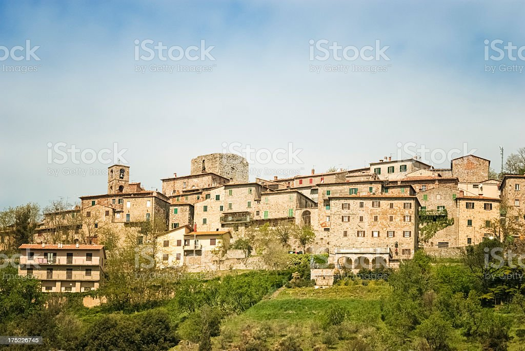 Traditional old town in Tuscany royalty-free stock photo