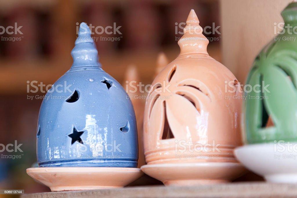 Traditional omani incense burner in Nizwa stock photo