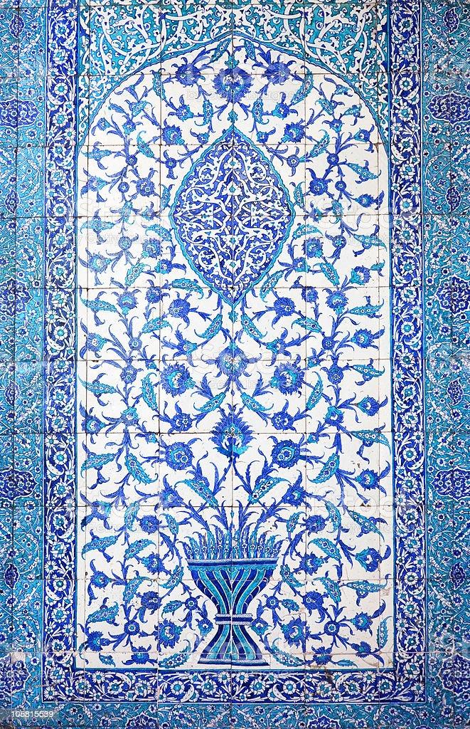 Traditional Oriental Tiles / handmade art royalty-free stock photo