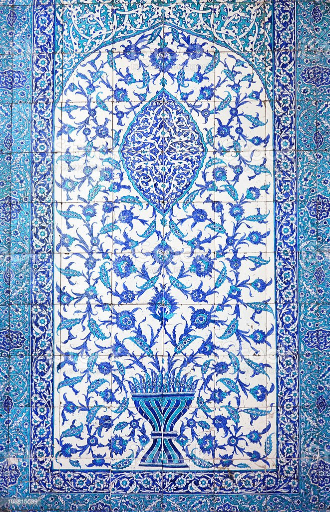 Traditional Oriental Tiles / handmade art stock photo