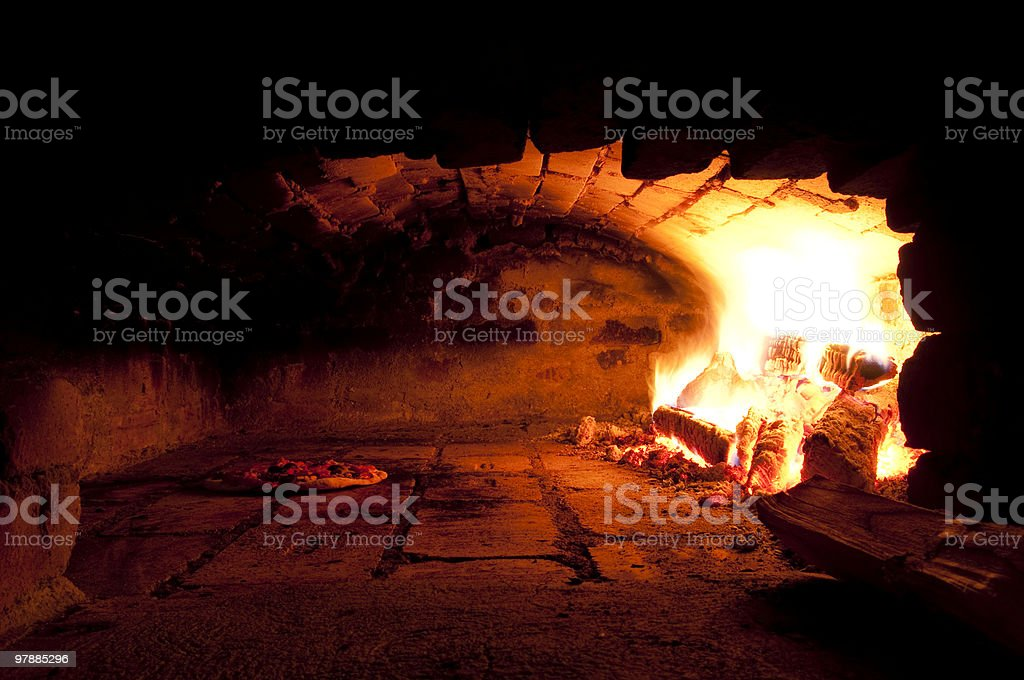 A traditional oven for baking pizza royalty-free stock photo