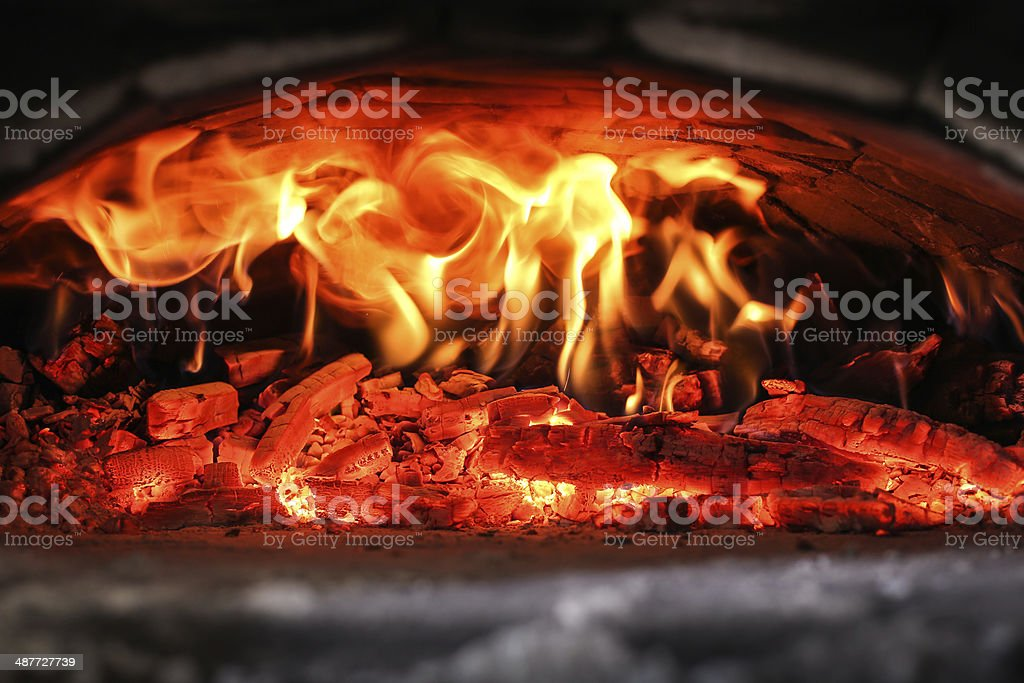 Traditional oven for pizza stock photo