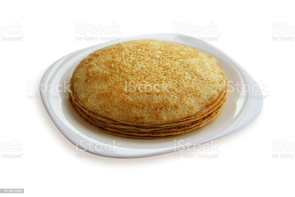 traditional pancakes - russian blini stock photo