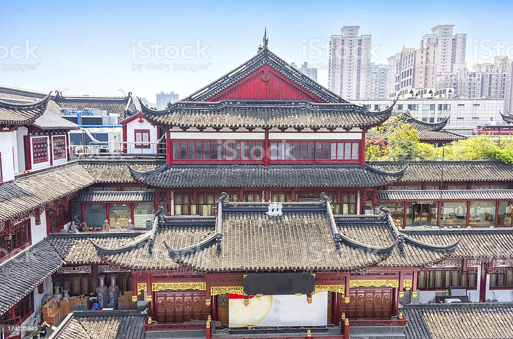 Traditional part of Shanghai, China stock photo