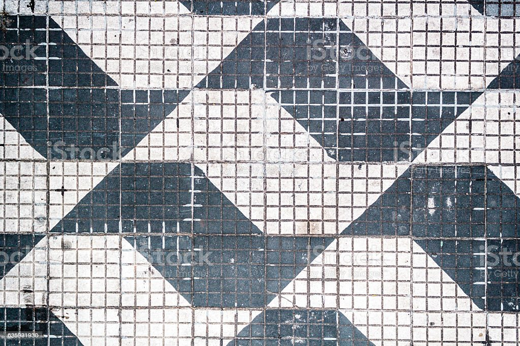 Traditional Pattern of Sao Paulo Streets in Brazil stock photo