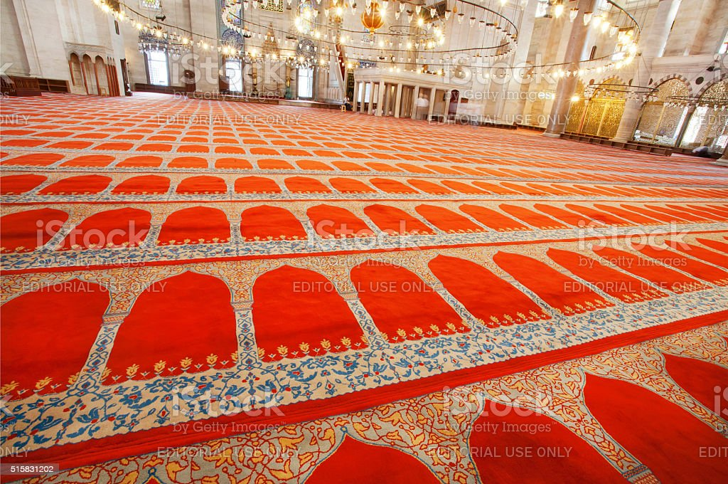 Traditional patterns of 16th century mosque stock photo