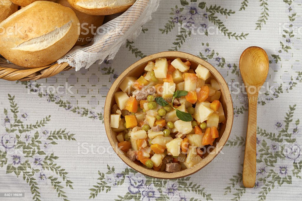 Traditional peruvian meal Matasquita stock photo